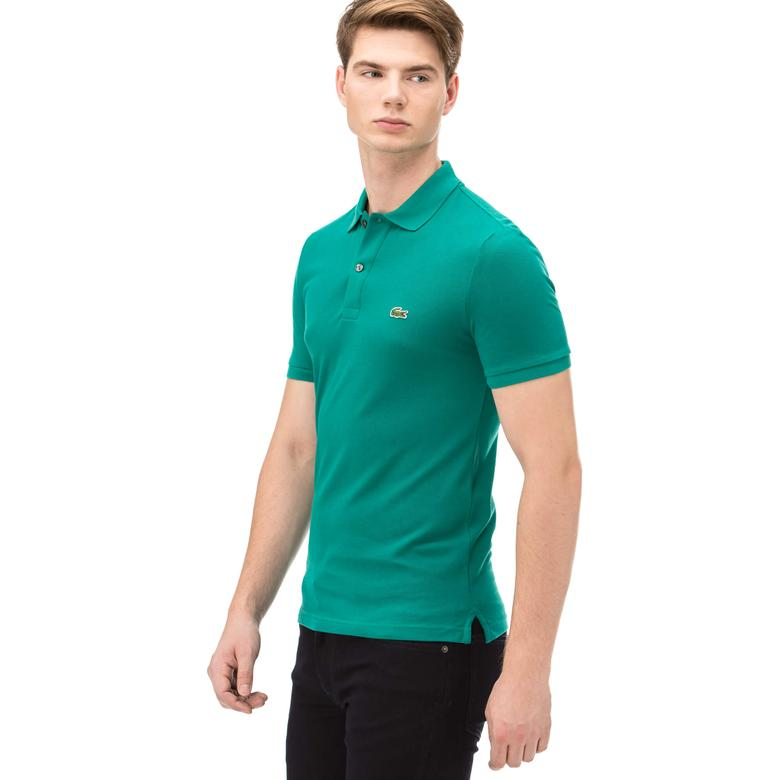 Lacoste Erkek Yeşil Slım Fit Kısa Kollu Polo