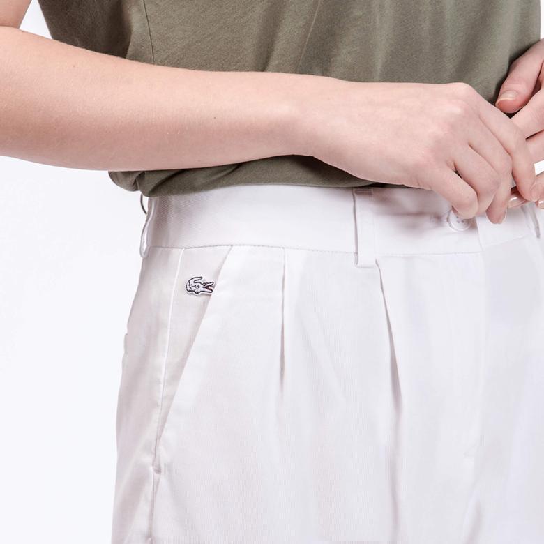 Lacoste Kadın Beyaz Pantolon
