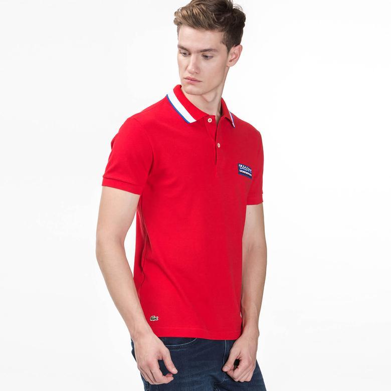 Lacoste Erkek Kırmızı Regular Fit Polo