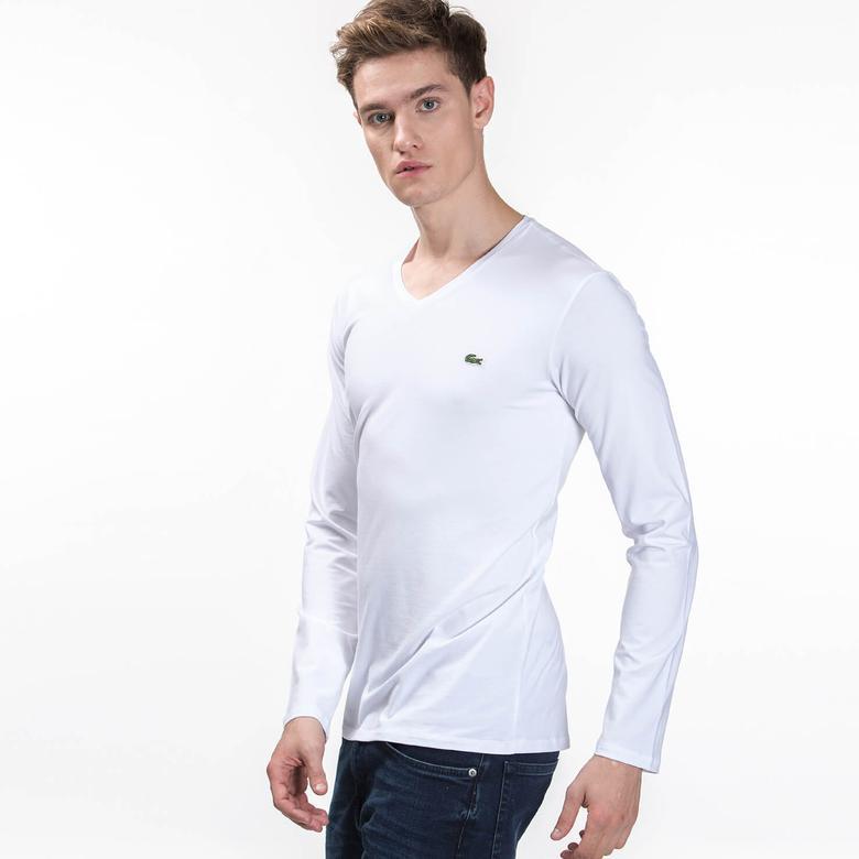 Lacoste Erkek Regular Fit Beyaz Uzun Kollu T-Shirt