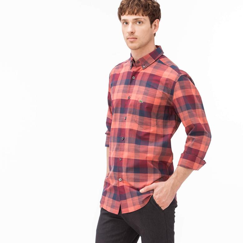 Lacoste Erkek Kırmızı Regular Fit Uzun Kollu Gömlek