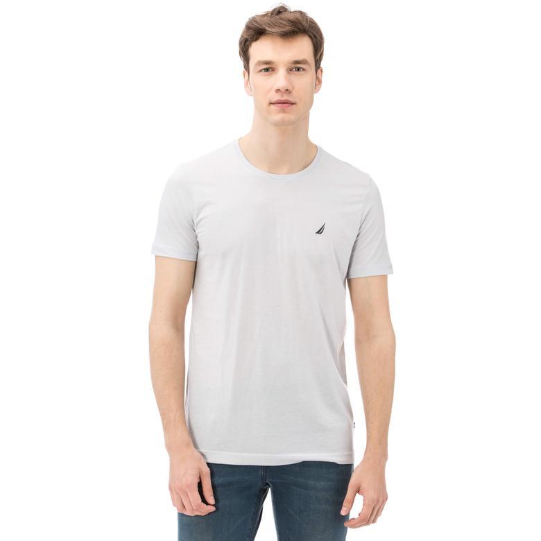 Nautica Erkek Slim Fit Gri T-shirt