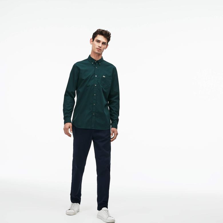 Lacoste Erkek Regular Fit Koyu Yeşil Ekose Gömlek