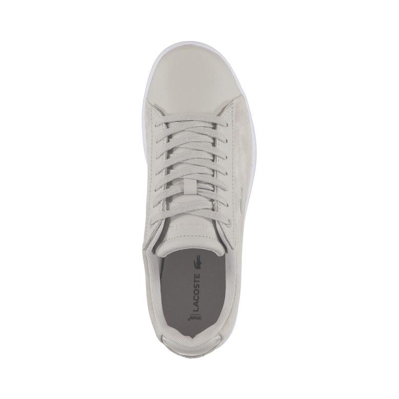Lacoste Carnaby Evo 318 8 Kadın Bej Sneaker