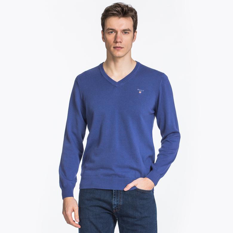GANT Erkek Yünlü Mavi Triko