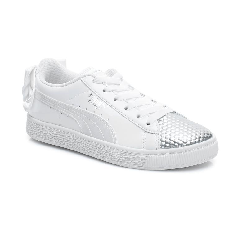 promo code 5c69a 8f937 Puma Basket Bow Coated Glam Çocuk Beyaz Spor Ayakkabı