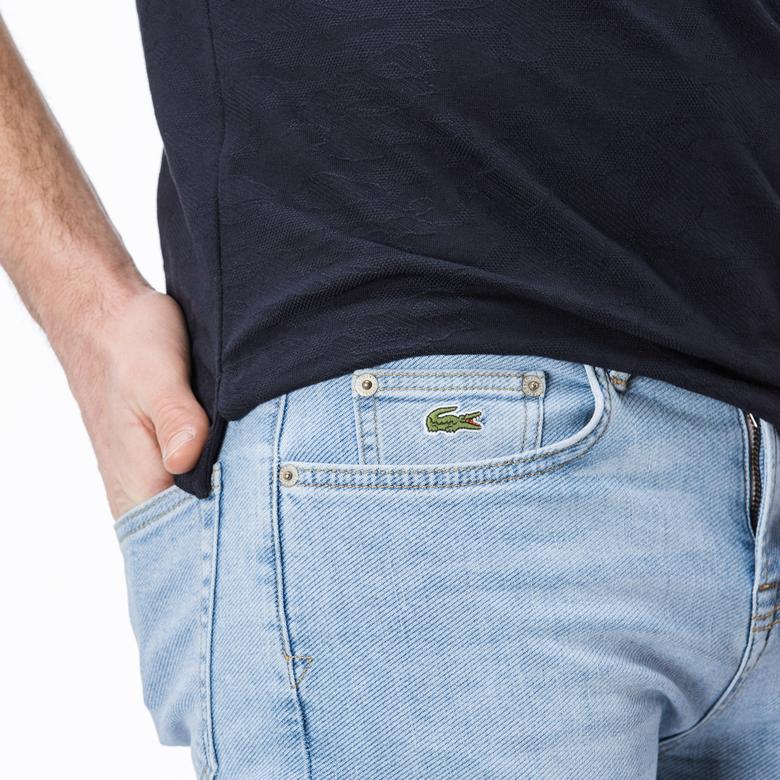 Lacoste Erkek Slim Fit Mavi Pantolon