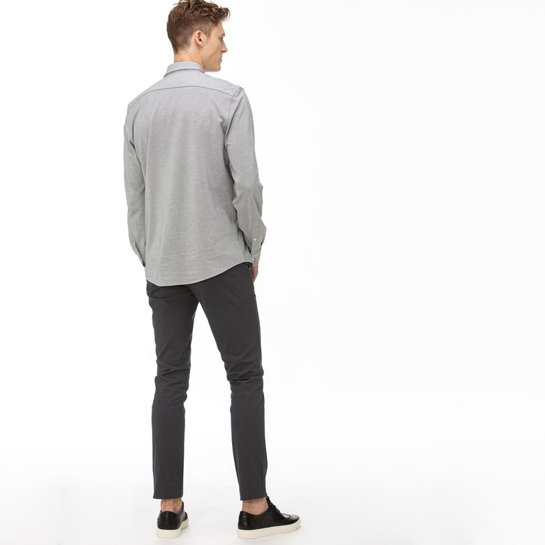 Lacoste Erkek Slim Fit Gabardin Gri Pantolon