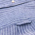 Gant Erkek Lacivert Çizgili Regular Keten Gömlek
