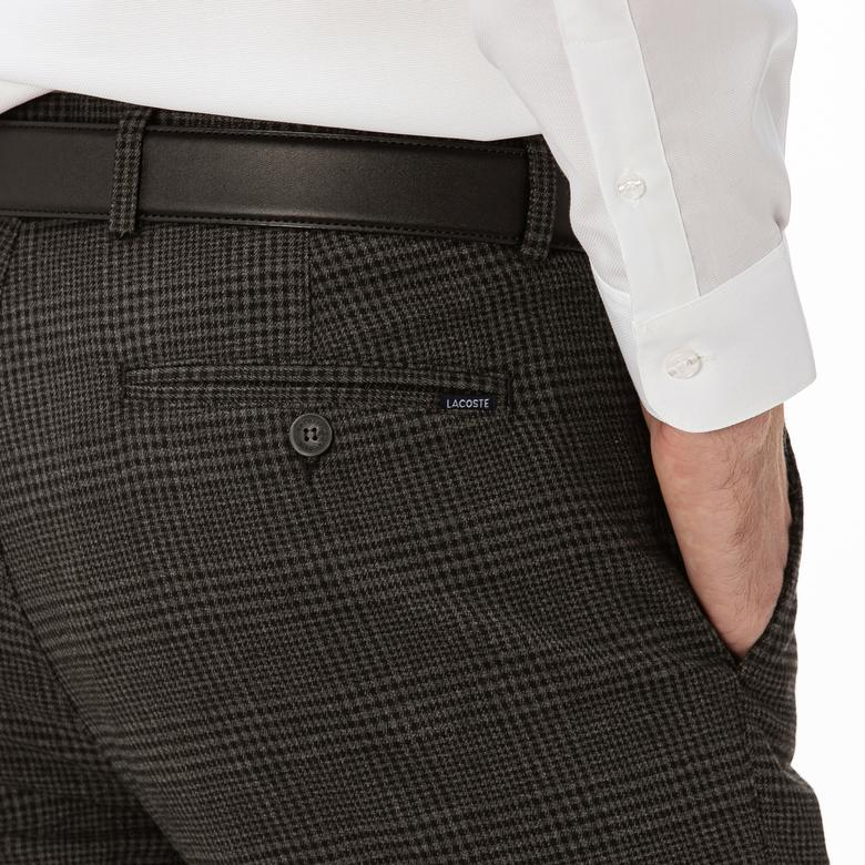 Lacoste Erkek Ekose Siyah Pantolon