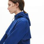 Lacoste Kadın Suya Dayanıklı Saks Mavi Rüzgarlık
