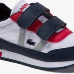 Lacoste Partner 120 1 Sui Çocuk Beyaz - Lacivert - Kırmızı Ayakkabı