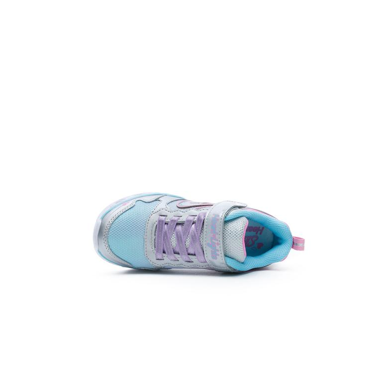 Skechers Heart Lights - Love Spark Çocuk Gri-Renkli Spor Ayakkabı