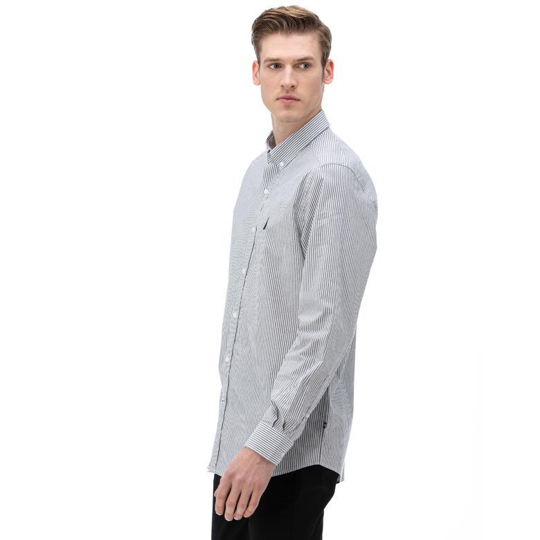 NAUTICA Erkek Classic Fit Lacivert Gömlek