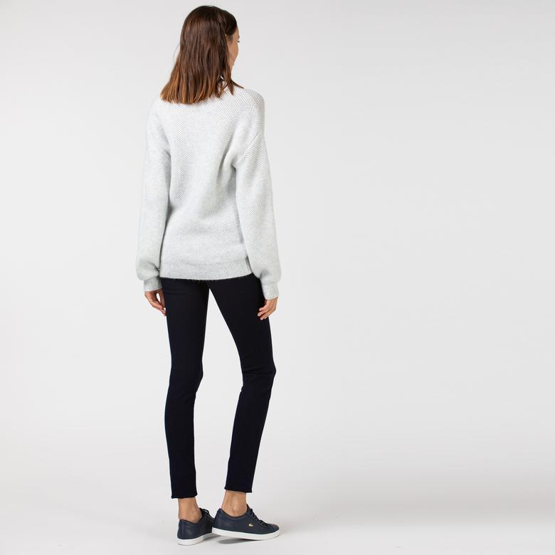 Lacoste Kadın Slim Fit Denim Streç Lacivert Pantolon