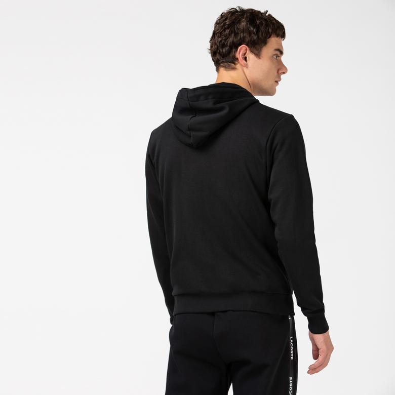 Lacoste Erkek Regular Fit Kapüşonlu Siyah Sweatshirt