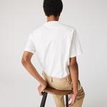 Lacoste L!VE Erkek Beyaz T-Shirt