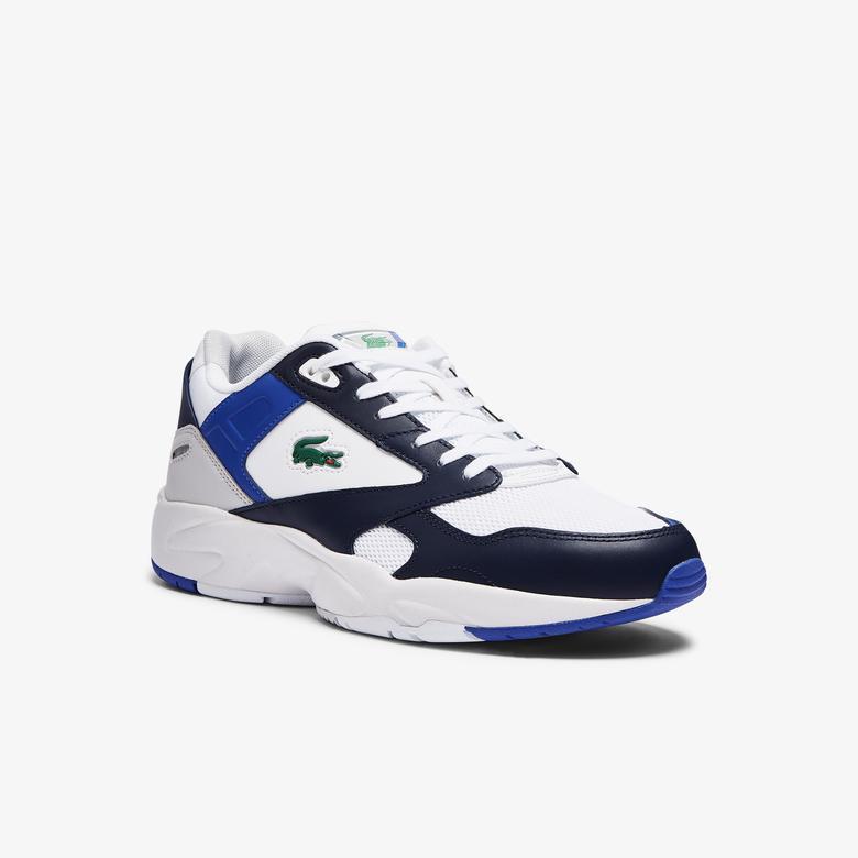 Lacoste Storm 96 Lo 0721 1 Sma Erkek Beyaz - Lacivert Sneaker