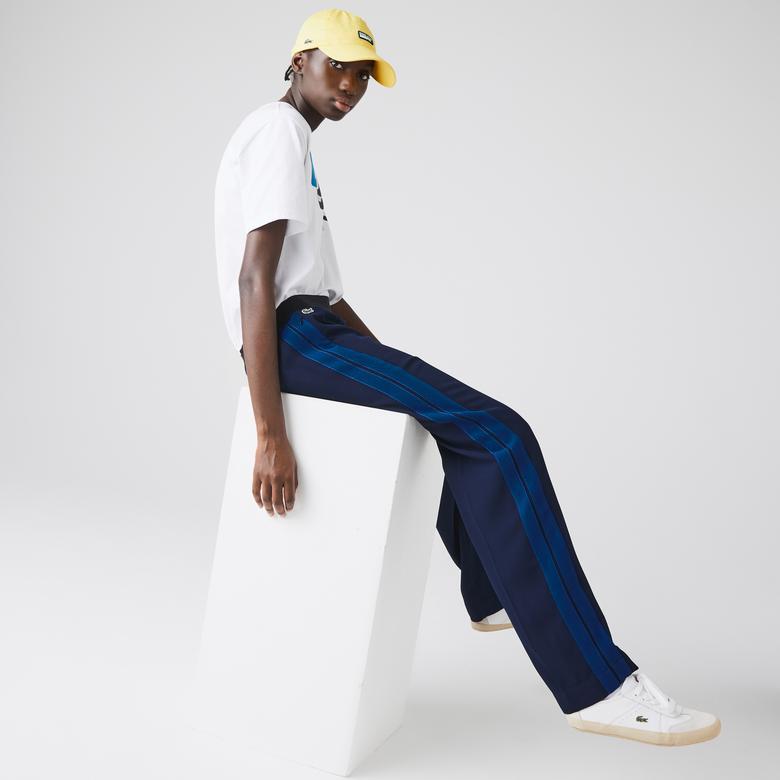 Lacoste Kadın Lacivert Çizgili Pantolon